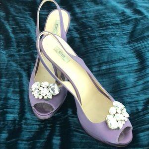 Prada Lavender Satin Heels